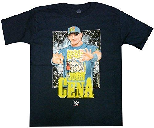 WWE Little Boys' John Cena T-Shirt Shirt, Navy Cena, Medium/5/6 by WWE