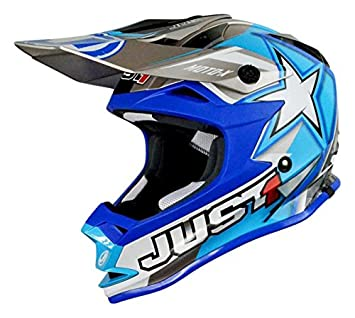 WACOX 192305 casco Cross just1 J32 moto x Junior, Azul, talla única