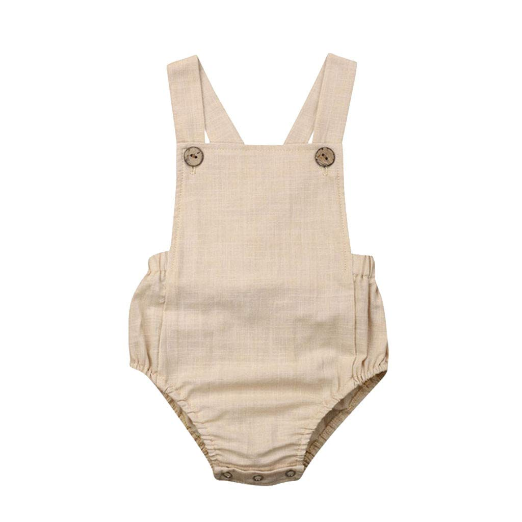 Riou Romper Baby Sommer Kleinkind Baby Kinder M/ädchen Jungen /Ärmellos Solid Stripe Sunsuit Kleidung Babykleidung Jumpsuit Romper Overall Body Strampler Set
