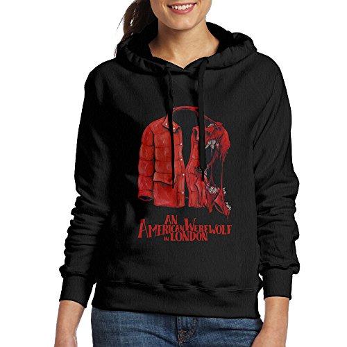 Bekey Women's An American Werewolf Coat Hoodie Sweatshirt S Black
