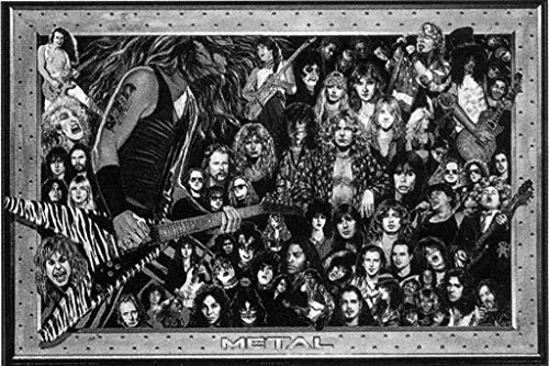 Heavy Metal Collage Rock Music Poster 36x24