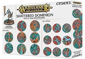 Games Workshop Peanas Redondas Shattered Dominion 25 y 32 mm - Accesorios para Juegos de Mesa (Gris, 12 año(s), De plástico, Reino Unido, Caja, 70 Pieza(s)): Amazon.es: Juguetes y juegos