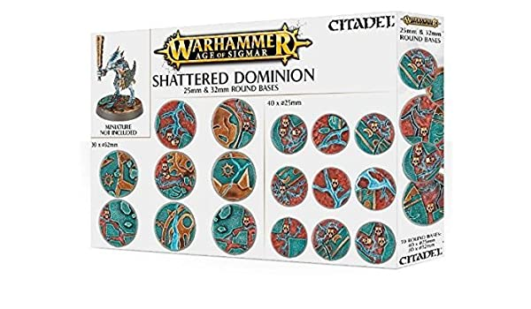 Games Workshop Peanas Redondas Shattered Dominion 25 y 32 mm ...