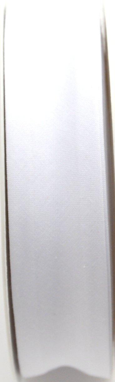 Inastri 2959 20 m 25//5//5 mm Rouleau Biais en Polycoton Blanc