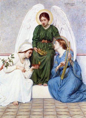 Mary L Macomber Faith Hope and Love - 21'' x 28'' 100% Hand Painted Oil Painting Reproduction by Art Oyster