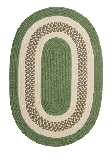 Crescent Oval Area Rug, 2 by 3-Feet, Moss (Oval Moss Green Area Rugs)
