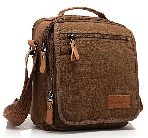 Kenox Vintage Multifunction Canvas Shoulder Bag Messenger Bag Ipad Bag Work Field Bag