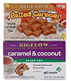 Salted Caramel and Coconut Cookie Flavored Tea - Bundle of 2 Boxes of Bigelow Tea: One Caramel and One Girl Scout Cookie