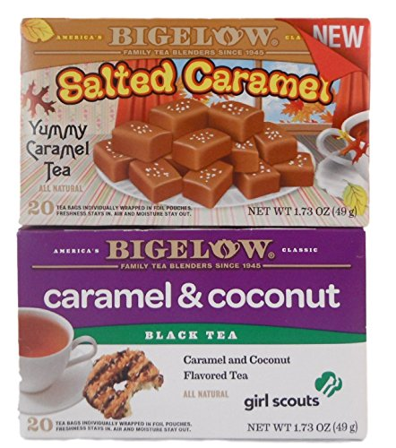 oconut Cookie Flavored Tea - Bundle of 2 Boxes of Bigelow Tea: One Caramel and One Girl Scout Cookie ()