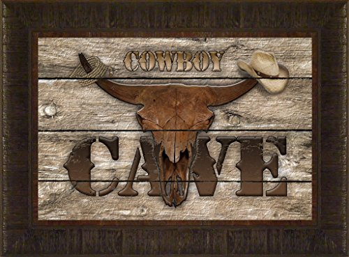 Old West Cowboy Cave By Todd Thunstedt 17.5x23.5 Man Rodeo Queen PRCA Association Stock Show Fort Worth Jackson Hole Deadwood Rapid City South Dakota National Western Denver Cow Longhorn Cattle - Wayne Preakness