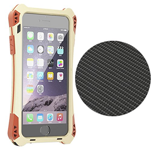 R-Just iPhone 6 Case Waterproof Shockproof Aluminum Gorilla Glass Metal for iPhone 6 (4.7-Inch) Gold/Black /Red