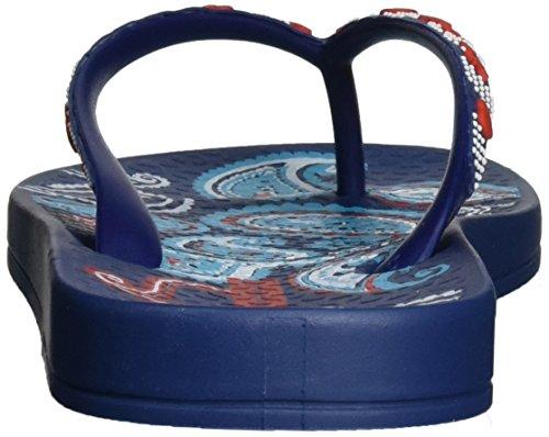 Ipanema Anat Lovely Vii Fem, Chanclas para Mujer Mehrfarbig (blue/blue/orange)