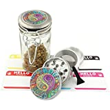 Psychedelic Yin Yang Design -42 mm- 4Pcs Small Size Herbal Grinder Item #G42-5715-498