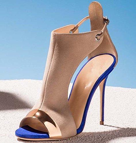 de sandalias de alto Sandalias tacón Blue las T6fnUx