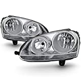For 06-09 VW Volkswagen GTI Rabbit Jetta R32 MK5 Chrome Housing Factory Style Headlight Lamps Assembly L+R