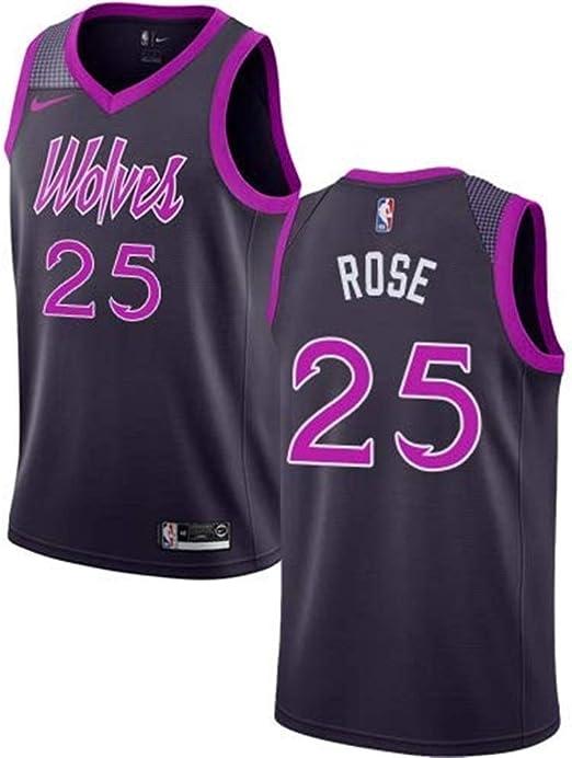 T-SHIRT Ldwxxx Jersey De Hombre NBA Derrick Rose, Baloncesto ...