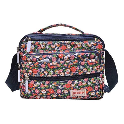 Nylon Pequeño Bolso de Bandolera Floral Moda de Bolsas Impermeable Viaje para Bolsos Mochilas Impermeable Bolsa 9201 Mujer aEBWw1q4