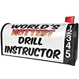 NEONBLOND Worlds hottest Drill Instructor Magnetic Mailbox Cover Custom Numbers