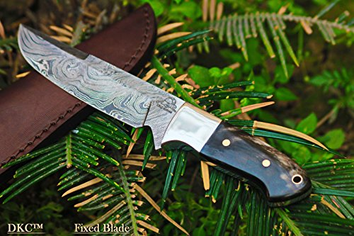 DKC-543-NIGHT-HAWK-Damascus-Tanto-Bowie-Hunting-Handmade-Knife-Fixed-Blade-82oz-oz-9-Long-5-Blade