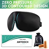 Higher Invisiable Nose Alar AMTOOCH Sleep Mask 3D Contoured Soft Eye Masks Adjustable Strap Great for Travel, Shift Work, Nap, Meditation & Sleeping Aid