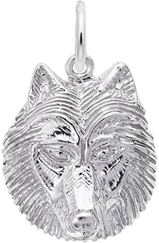 Charm - Metal - Sterling Silver (Sterling Silver Wolf Head Charm)