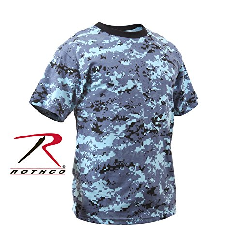 - Rothco Kids T-Shirt, Sky Blue Digital Camo, Medium
