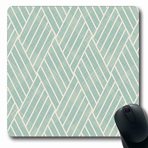 (Ahawoso Mousepad Oblong 7.9x9.8 Inches Zigzag Beige Harlequin Abstract Wattled On Ceramic Creative Diagonal Digital Endless Design Irregular Office Computer Laptop Notebook Mouse Pad,Non-Slip)