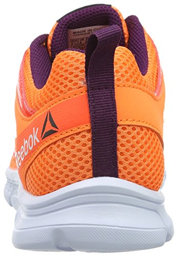 Reebok Run Supreme 2.0, Chaussures de Running Compétition Femme Naranja / Rojo / Morado / Blanco (Elect Peach / Atom Red / Celest Orchd / Wht)