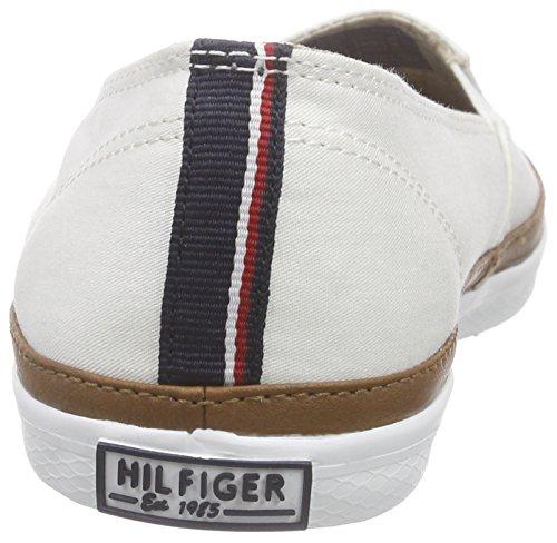 Tommy Hilfiger K1285esha 7d, Mocasines para Mujer Blanco - Weiß (SNOW WHITE 118)