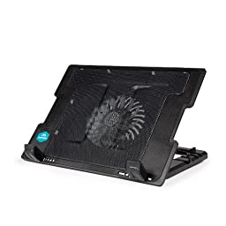 Merkury Innovations Laptop Cooling Stand Metal Mesh Surface with Silent Fan (M-CP310)