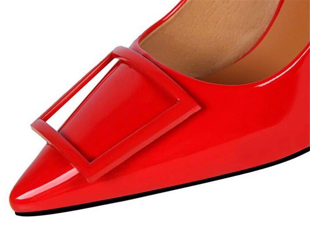 FLYRCX Europäische Mode Dame Dame Dame wies flachen Mund Lackleder Stilettos B07P7KRNQZ Tanzschuhe Niedrige Kosten 2201e9