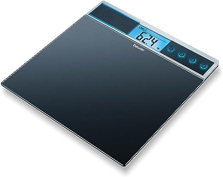 Beurer GS 39 - Báscula de baño de vidrio con función voz, 5 ...