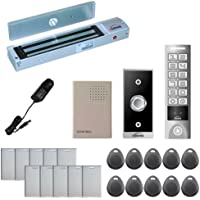 Visionis FPC-5640 One Door Access Control Outswinging Door 600lbs Maglock with VIS-3005 Outdoor Weather Proof Slim Metal Touch Keypad/ Reader Standalone No Software EM Card Compatible 2000 Users Kit