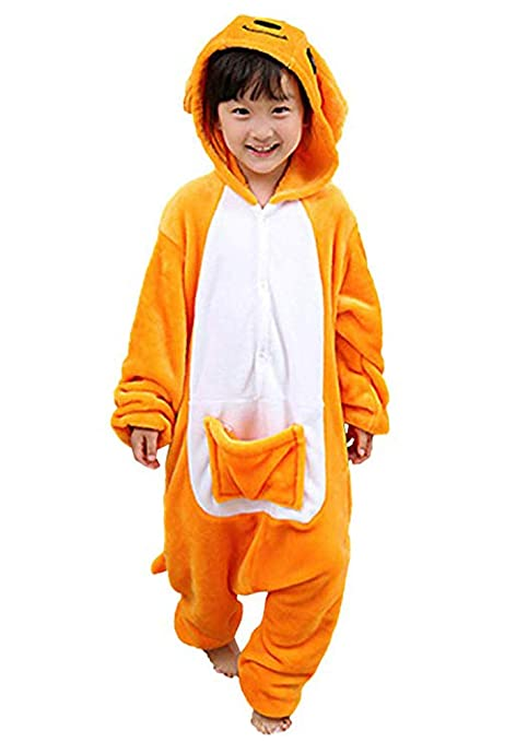 f2683c8c3 Amazon.com: Tonwhar Children's Halloween Costumes Kids Kigurumi Onesie  Animal Cosplay (100(height:37.4