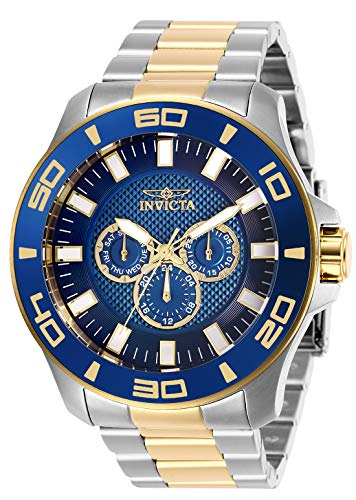 - Invicta Men's Pro Diver Quartz Watch with Stainless Steel Strap, Silver, Gold, 26 (Model: 27998)