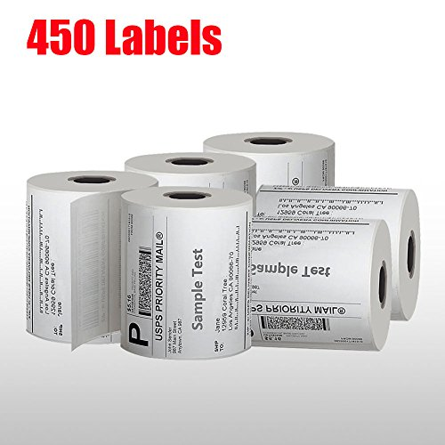 MFLABEL 32 Rolls of 450 Counts, 4x6 Shipping Labels, Mailing Postage Labels for Zebra 2844 ZP-450 ZP-500 ZP-505