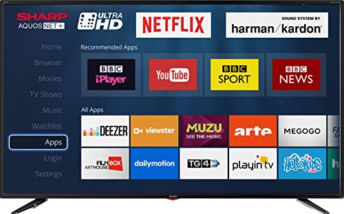 Sharp LC-49UI7352K 4K Ultra HD Smart 49-inch TV with Freeview HD (2018...