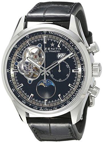 Zenith Men's 0321604047.21C El Primero Chronomaster Open Grande Date Analog Display Swiss Automatic Black (New Zenith Grande)