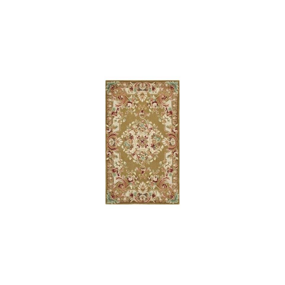 Safavieh Savonnerie Collection SAV201C Handmade Traditional European Brown and Ivory Wool Area Rug (6 x 9)