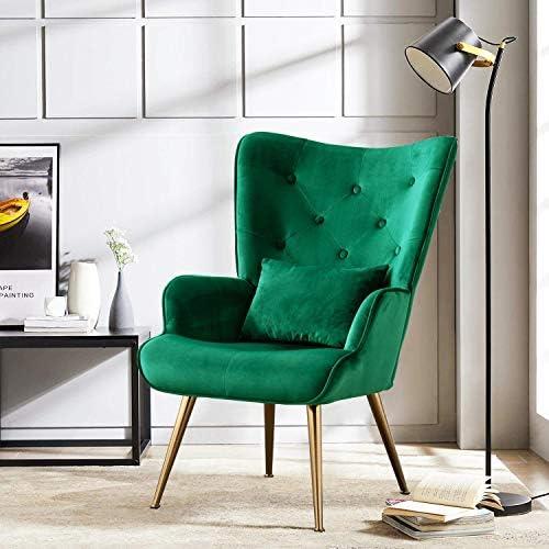 Altrobene Velvet Accent Arm Chair