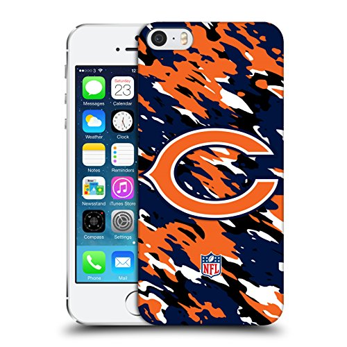 Official NFL Camou Chicago Bears Logo Hard Back Case for Apple iPhone 5 / 5s / SE