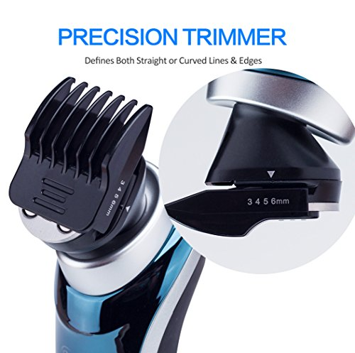 Hatteker 4 in 1 Electric Razor for Men Rotary Shavers Electric Shaver Waterproof Facial Brush Precision Trimmer Nose Trimmer CordlessUSB Rechargeable Birthday Gifts Anniversary Gifts Fathers Day Gift by Hatteker (Image #6)