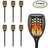 OxyLED Solar Torch Lights, Garden Pathway Light with Realistic Dancing Flames, Waterproof Landscape Lighting with Auto On/Off Dusk to Dawn for Halloween Christmas Lights Decorations (6 Pack)