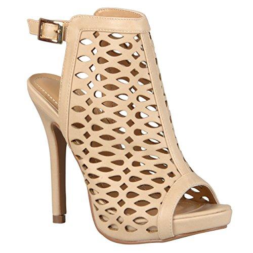 Brinley Co. Womens Open Toe High Heel Sandals