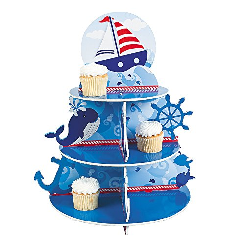 1 X Nautical Sailor Cupcake Holder Stand Size: 16