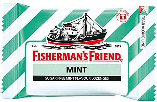 Fisherman's Friend Sugar Free Refreshing Mint Flavor Cough Lozenges, 25g each pack (Pack of 12) Sore Throat Lozenges Original Mint