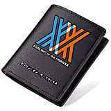 Siawasey Anime DARLING in the FRANXX Printing Men PU Leather Coin Purse Case Wallet Passport ID Card Holder (DARLING in the FRANXX-Short)