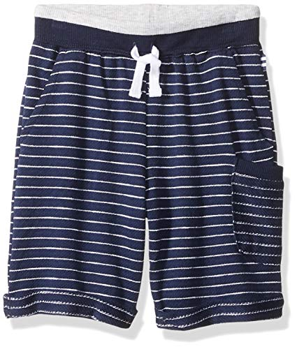 - Splendid Boys' Toddler Baby French Terry Yarn Dyed Stripe Short, True Navy 3T