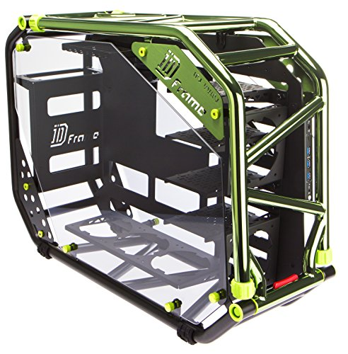 InWin D-Frame 2.0 BK/GR  Green/Black Motorcycle Steel Tube ATX Full Tower Case includes SII-1065W Power supply Cases D-Frame 2.0 by InWin (Image #6)