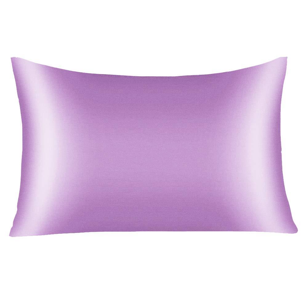 YANIBEST Silk Pillowcase for Hair and Skin - 600 Thread Count 100% Mulberry Silk Bed Pillowcase with Hidden Zipper, Standard Size Pillow Cases